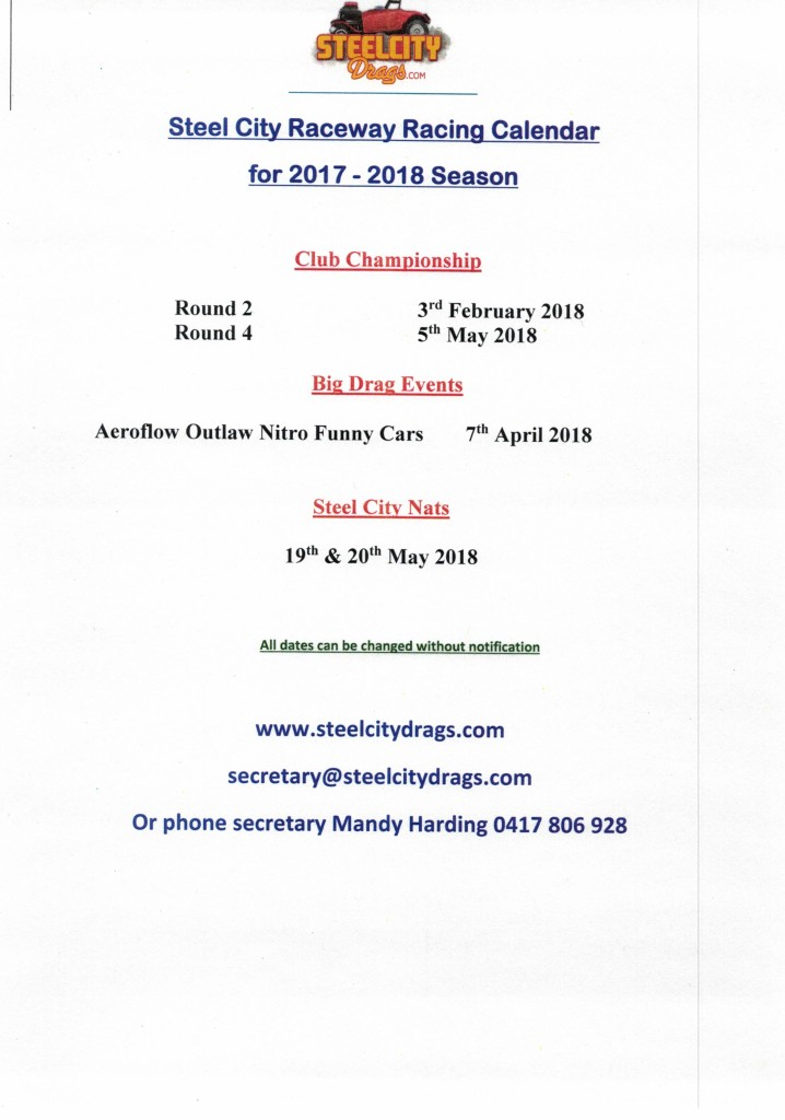 SCDC Race Dates Revised Feb 22022018